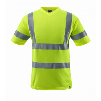 T-shirt, V-hals, klasse 2 | 18282-995 | 017-hi-vis geel
