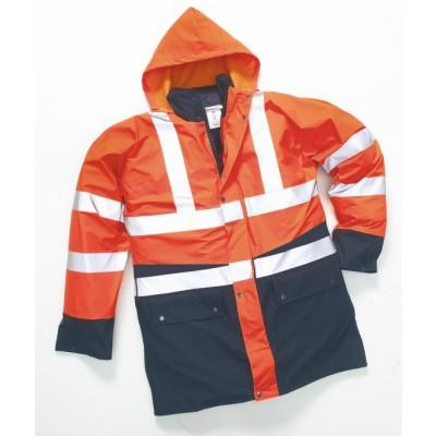 Hydrowear Polperro Regenjas + Bodywarmer EN471 | 016863-141 | oranje/marine