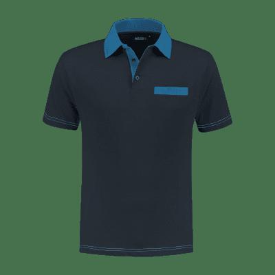 Foto van Indushirt PS 200 Polo-shirt marine-korenblauw