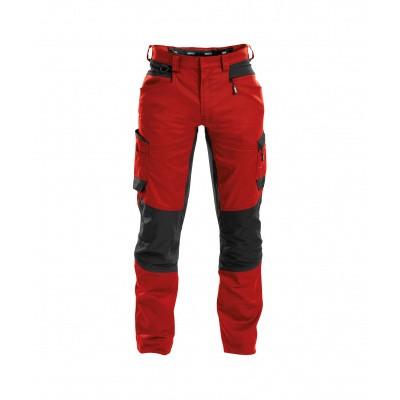 Dassy stretch broek HELIX | 200973 | rood/zwart