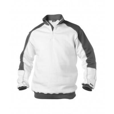 Foto van Dassy tweekleurige sweater BASIEL | 300358 | wit/cementgrijs
