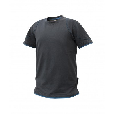 Dassy t-shirt KINETIC | 710019 | antracietgrijs/azuurblauw