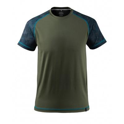 T-shirt, vochtafdrijvend,moderne pasvorm | 17482-944 | 033-mosgroen