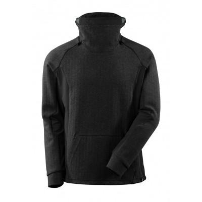 Sweater met hoge verstelbare kraag | 17584-319 | 09-zwart