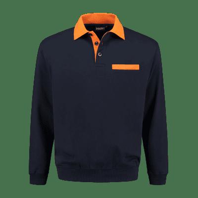 Foto van Indushirt PSW 300 Polosweater marine-oranje
