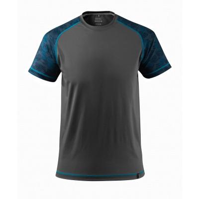 T-shirt, vochtafdrijvend,moderne pasvorm | 17482-944 | 018-donkerantraciet