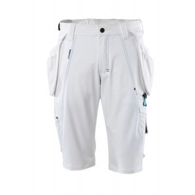 Shorts, afneembare spijkerzakken,stretch | 17149-311 | 06-wit