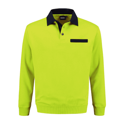 Foto van Indushirt PSW 300 Polosweater lime-marine