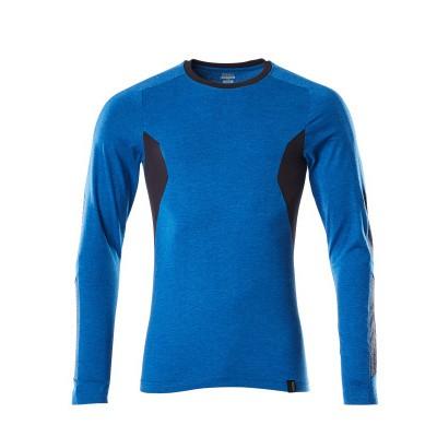 Mascot 18381-959 T-shirt, met lange mouwen azur blauw/donker marine