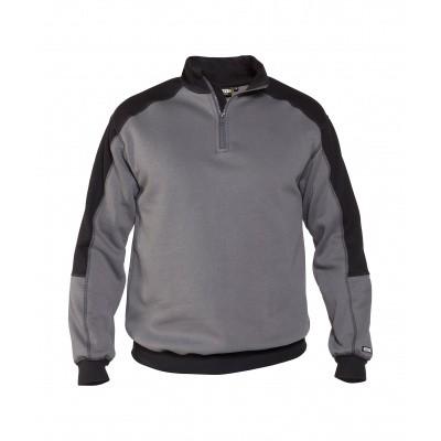 Foto van Dassy tweekleurige sweater BASIEL | 300358 | cementgrijs/zwart