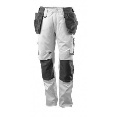 Foto van Broek met spijkerzakken, lichtgewicht | 17631-442 | 0618-wit/donkerantraciet