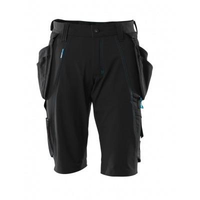 Shorts, afneembare spijkerzakken,stretch | 17149-311 | 09-zwart
