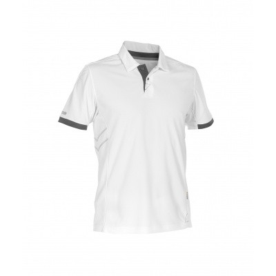 Dassy polo TRAXION | 710026 | wit/antracietgrijs