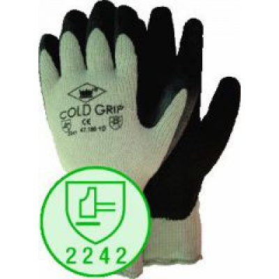 Foto van M-safe Coldgrip grijs/zwart maat 10, per paar te bestellen