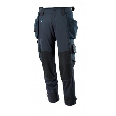 Foto van Broek, afneembare spijkerzakken, stretch | 17031-311 | 010-donkermarine