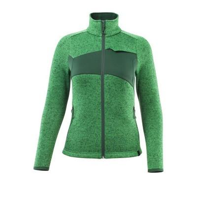 Mascot 18155-951 Gebreide trui met rits gras groen/groen