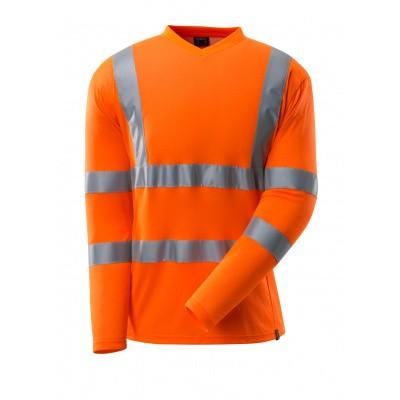 T-shirt, V-hals, lange mouwen, klasse 3 | 18281-995 | 014-hi-vis oranje