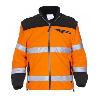 Hydrowear Freiburg fleecejack EN471   04026009F-149   oranje/zwart