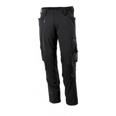 Broek met kniezakken, stretch, lichtgewi | 17179-311 | 09-zwart