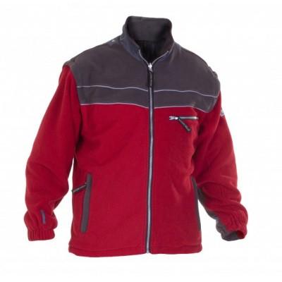 Hydrowear Kiel fleecejack   04026022F-288   rood/grijs