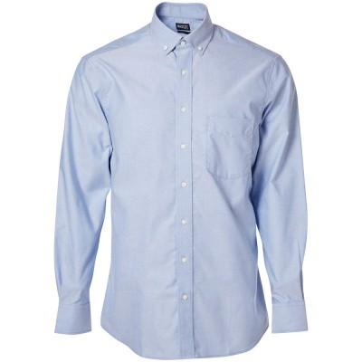 Foto van Overhemd Oxford, ruime pasvorm, l. mouwe | 50627-988 | 071-lichtblauw
