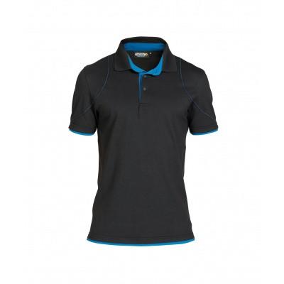 Dassy polo ORBITAL | 710011 | zwart/azuurblauw