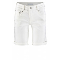 Red Button short SRB2797 white