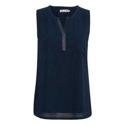 Fransa blouse 20603737/blauw