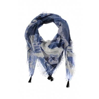 Dames sjaal 000421-00228 blauw