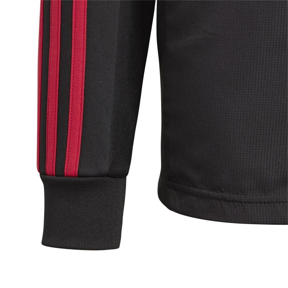 Afbeelding van Manchester United Hooded warm Up Pak Kids Zwart-Rood