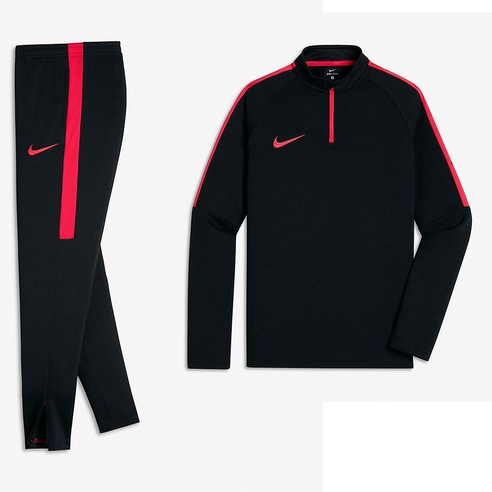 Afbeelding van Nike Dry Academy Set Kids Black Siren Red
