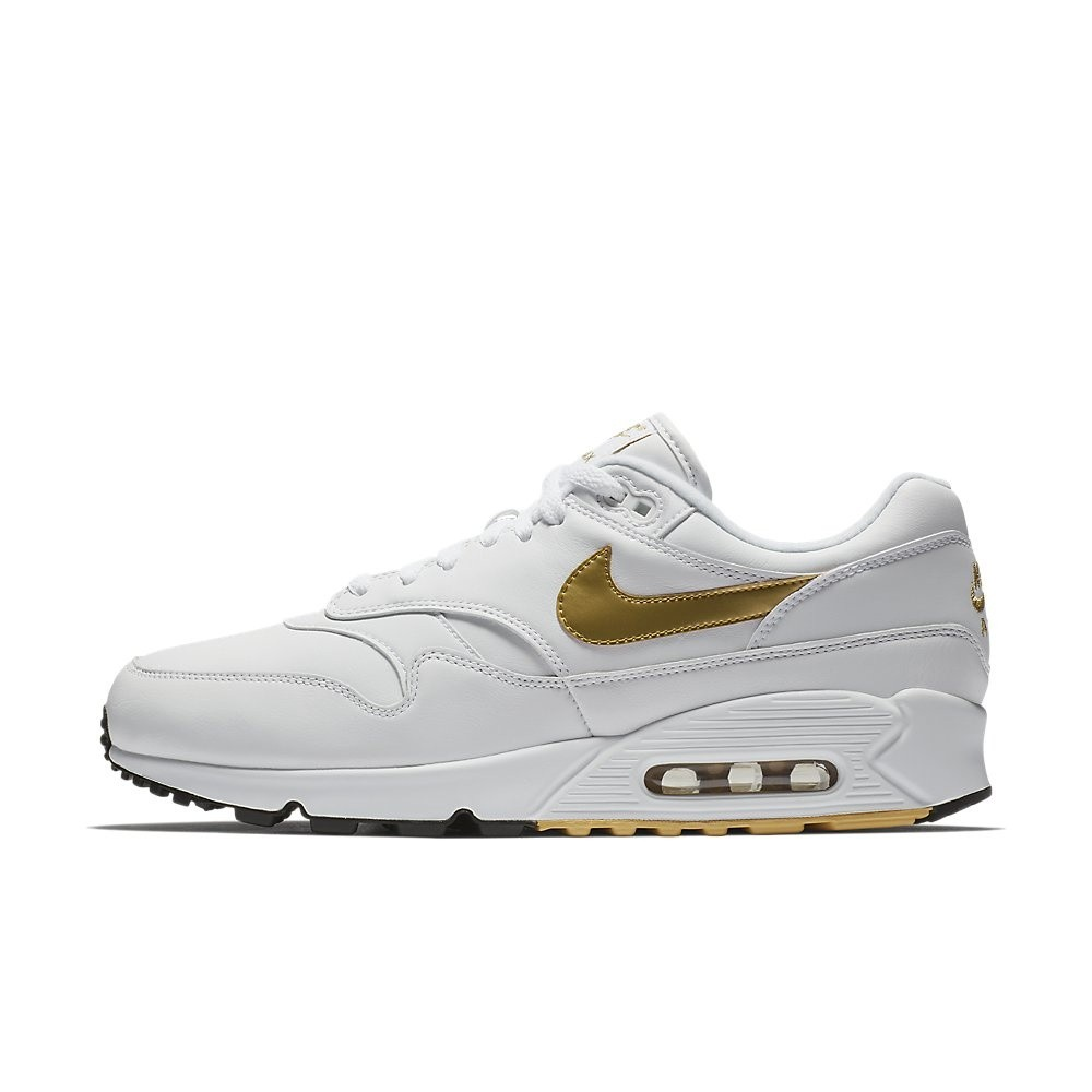 nike air max 1 wit goud