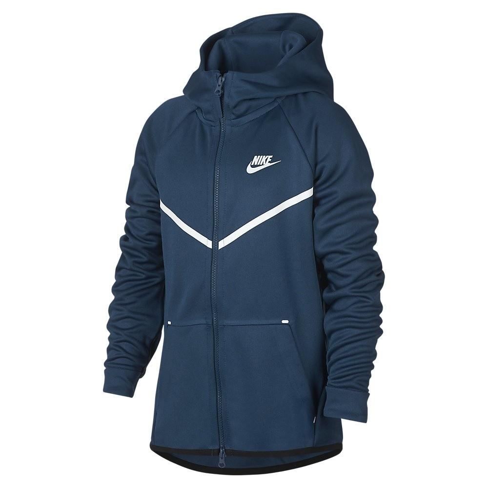 Afbeelding van Nike Sportswear Tech Fleece Hoodie Kids Blauw