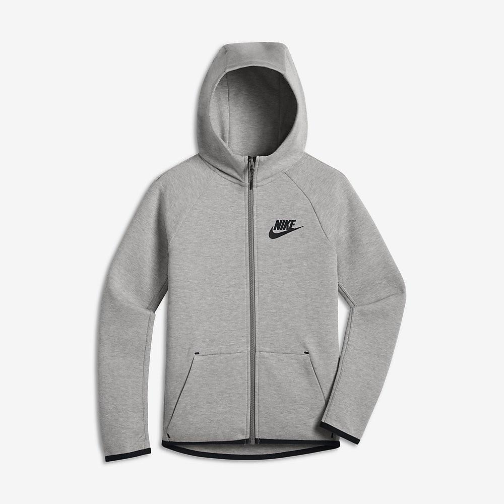 Afbeelding van Nike Sportswear Tech Fleece Dark Grey Heather Kids