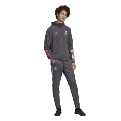 Foto van Real Madrid Trainingsset Hoodie Grey Five