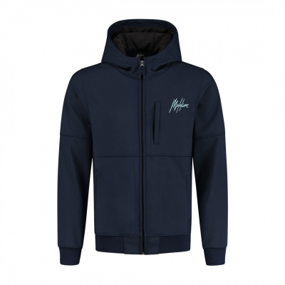 Foto van Malelions Softshel Jack Navy Light Blue