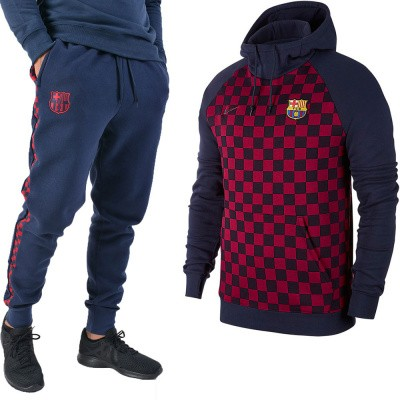 FC Barcelona Fleece Hoody Set Obsidian