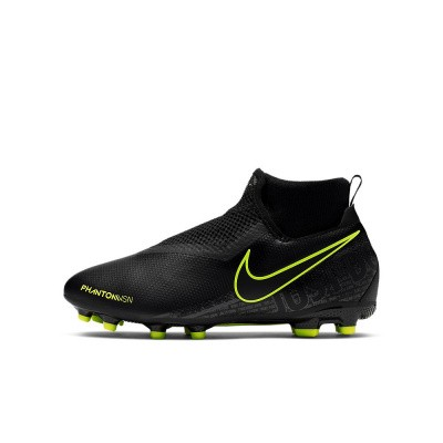 Foto van Nike Phantom Vision Academy Dynamic Fit MG Kids Black-Volt