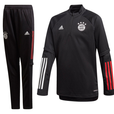 Foto van FC Bayern München Trainingsset Kids Black