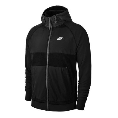 Foto van Nike Sportswear Men's Full-Zip Fleece Hoodie Black