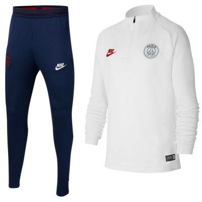 Foto van Paris Saint-Germain Dri-FIT Squad Drill Set Kids White