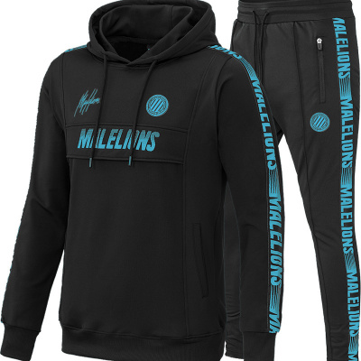 Foto van Malelions Sport Tracksuit Warming Up Black/Blue