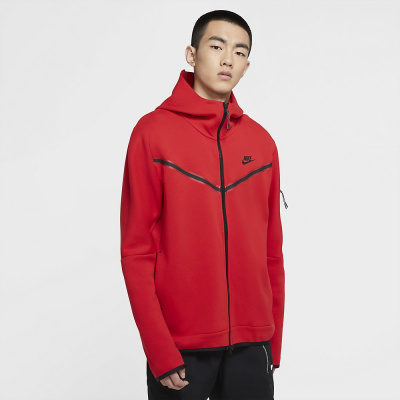 Foto van Nike Sportswear Tech Fleece Hoodie University Red