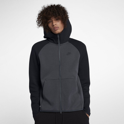 Foto van Nike Sportswear Tech Fleece Hoodie Anthracite Black
