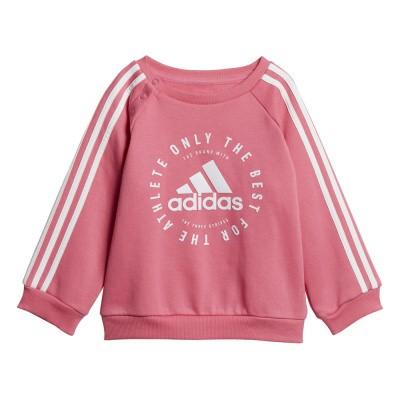 Foto van Adidas 3-Stripes Joggingpak Peuters Pink