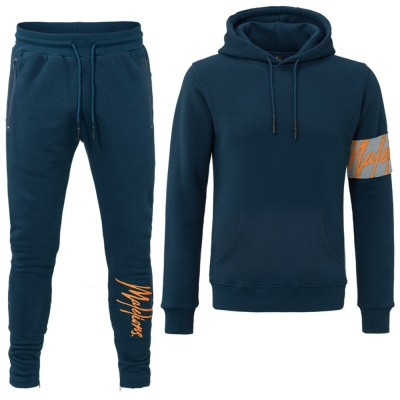 Foto van Malelions Captain Tracksuit Navy-Orange