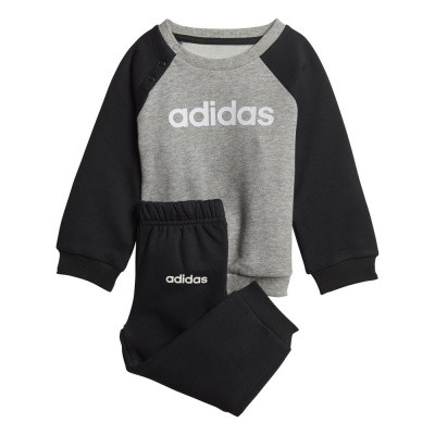 Foto van Adidas Linear Fleece Joggingpak Infants Medium Grey