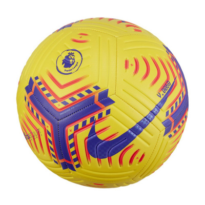 Foto van Nike Premier League Strike Voetbal Yellow Laser Crimson