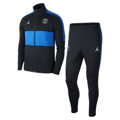 Foto van Paris Saint-Germain Dri-FIT Squad Trainingspak Black Hyper Cobalt