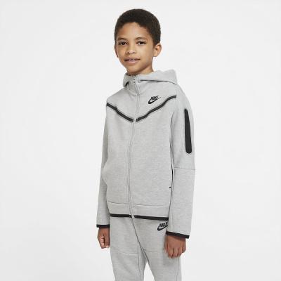 Foto van Nike Sportswear Tech Fleece Hoodie Kids Dark Grey Heather